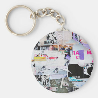 Graffiti Wall Banksy Style Torn Paper Keychain