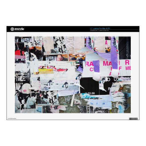 Graffiti Wall Banksy Style Torn Paper Decals For Laptops