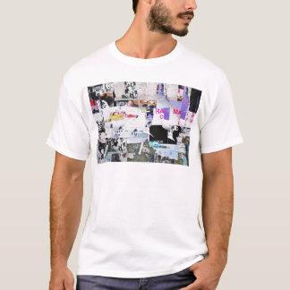 Graffiti Wall Banksy Style Torn Paper T-Shirt