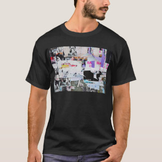 Graffiti Wall Banksy Style Torn Paper T-Shirt