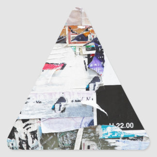 Graffiti Wall Banksy Style Torn Paper Triangle Sticker