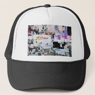 Graffiti Wall Banksy Style Torn Paper Trucker Hat