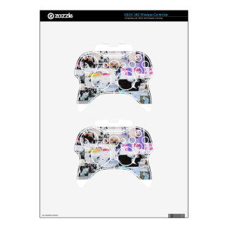 Graffiti Wall Banksy Style Torn Paper Xbox 360 Controller Skin