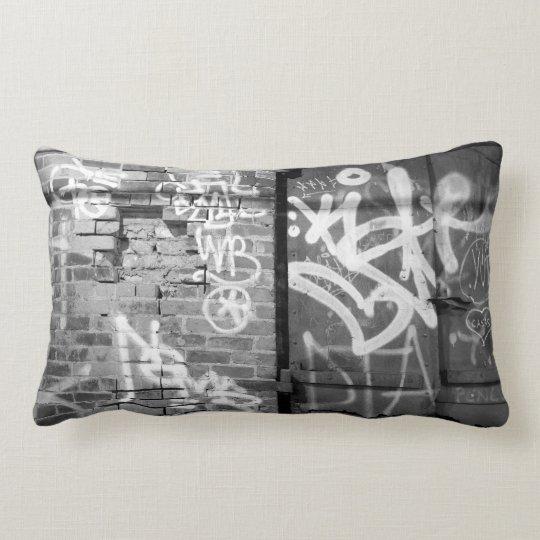 Graffiti wall in Brooklyn, New York City Lumbar Pillow