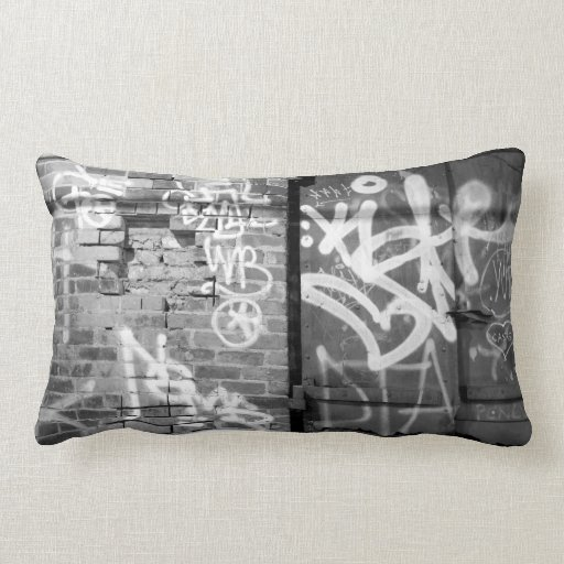 Graffiti wall in Brooklyn, New York City Throw Pillow