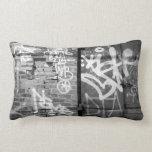 Graffiti wall in Brooklyn, New York City Pillows