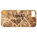 Graffiti wall in grunge, New York City iPhone 5 Cover