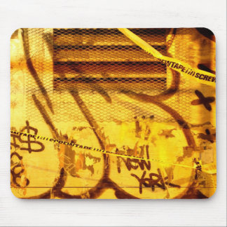 Graffiti wall in grunge, New York City Mouse Pad