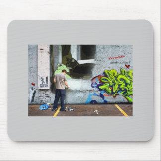 Graffiti Wall Lucy Mouse Pad