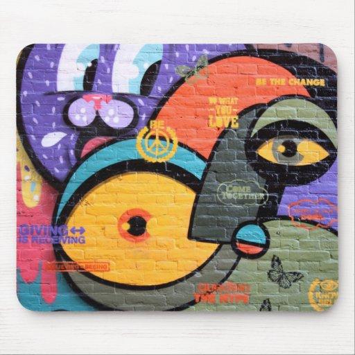 """Graffiti Wall""  Mousepad"