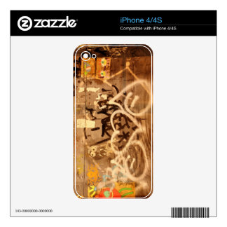 Graffiti wall, New York City Decal For iPhone 4