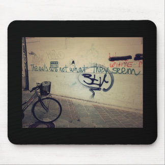 Graffiti wall - The owls are not what they seem Mouse Pad