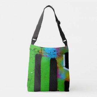 Graffiti wall tote bag.