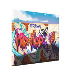 Graffiti Wall with Sports Car Shadow Gallery Wrapped Canvas