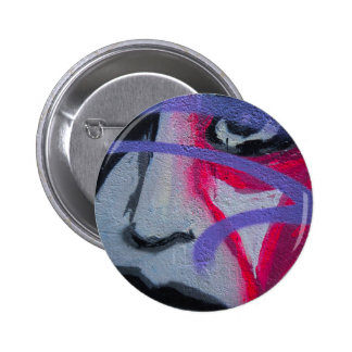 Graffiti woman button