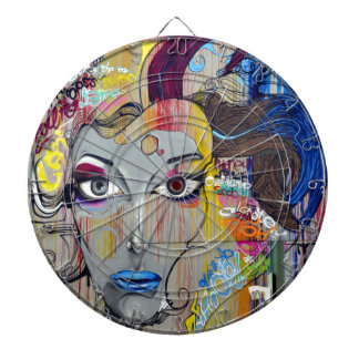 Graffiti Woman Dart Board