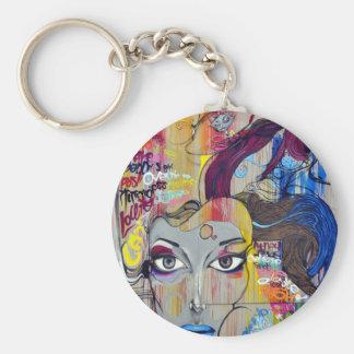 Graffiti Woman Keychain