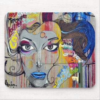 Graffiti Woman Mouse Pad
