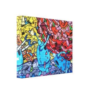 Graffiti Wrapped Canvas