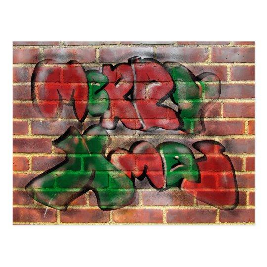 Graffiti Xmas Postcard
