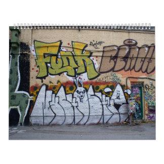 Graffitis At Donaukanal Vienna Austria Calendar