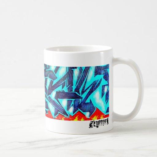 Graffito Classic White Coffee Mug