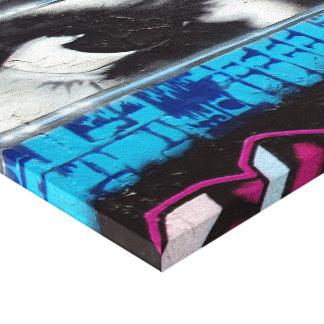 Graffito en lienzo lienzo envuelto para galerias