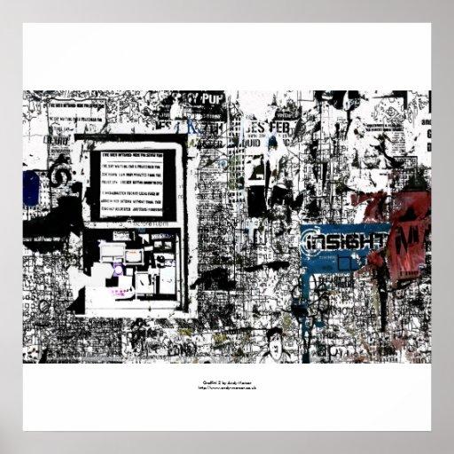 """Graffitti 2"" impresión Poster"