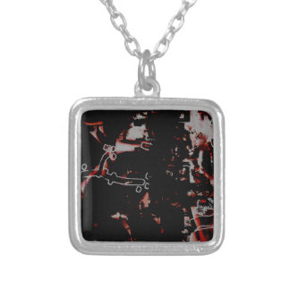 GRAFFITTI ONE SILVER PLATED NECKLACE