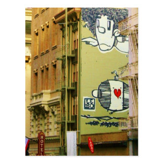 Graffitti Wall Photo Postcards