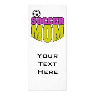 gráfico 2 del texto de la mamá del fútbol diseño de tarjeta publicitaria