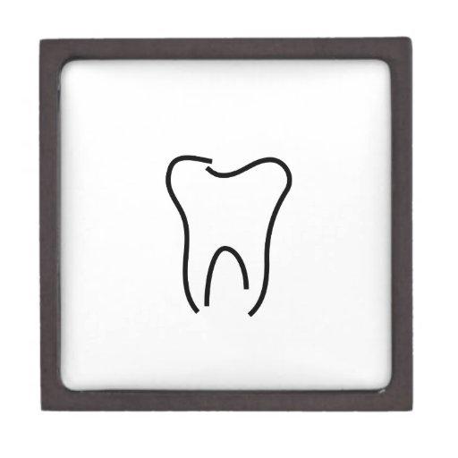 Gráfico abstracto del diente cajas de regalo de calidad
