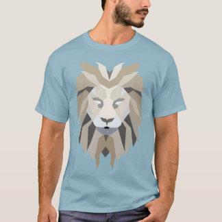 Gráfico abstracto geométrico del león playera