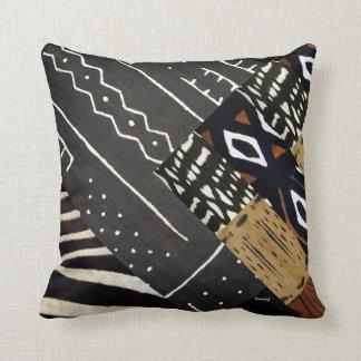 Gráfico africano contemporáneo almohadas