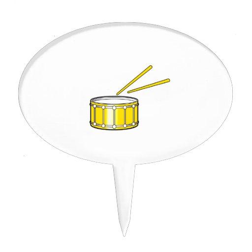 gráfico amarillo de la trampa con los palillos figura de tarta