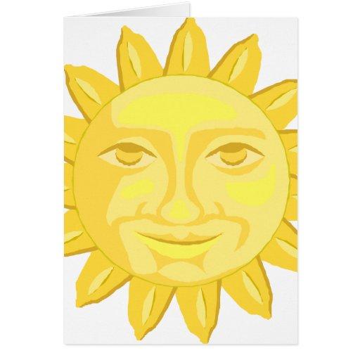 gráfico amarillo feliz del girasol tarjetón