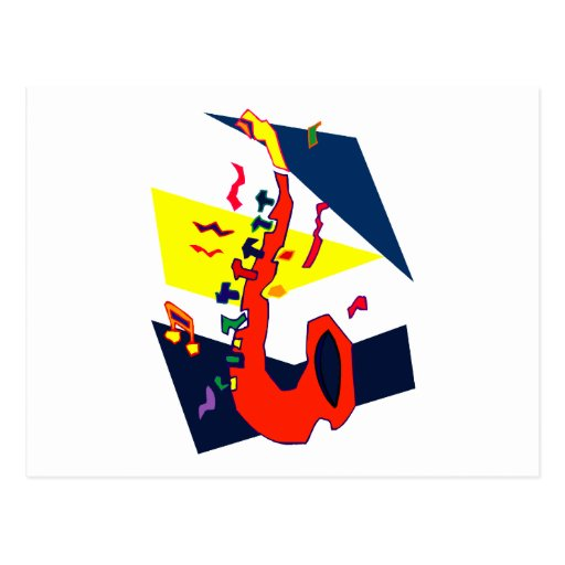 Gráfico amarillo-naranja azul abstracto del postal