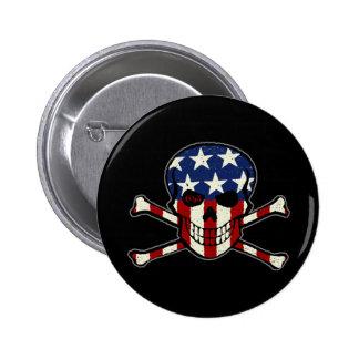 Gráfico americana de la bandera del cráneo del pin
