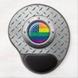 Gráfico americano industrial del arco iris del org alfombrilla de ratón con gel