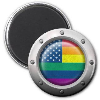 Gráfico americano industrial del arco iris del org iman para frigorífico