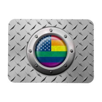 Gráfico americano industrial del arco iris del org imán flexible