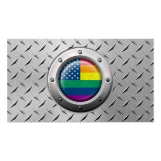Gráfico americano industrial del arco iris del tarjetas de visita