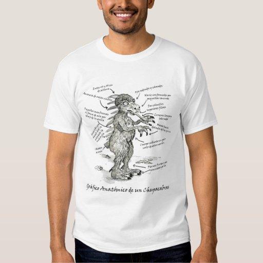 Gráfico Anatómico de un Chupacabras Tee Shirt