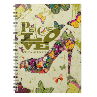 Gráfico Art. del amor y de la moda de la paz Cuaderno