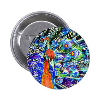 gráfico artístico anaranjado del pavo real y de la pin