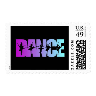 Gráfico asombroso de la danza timbre postal