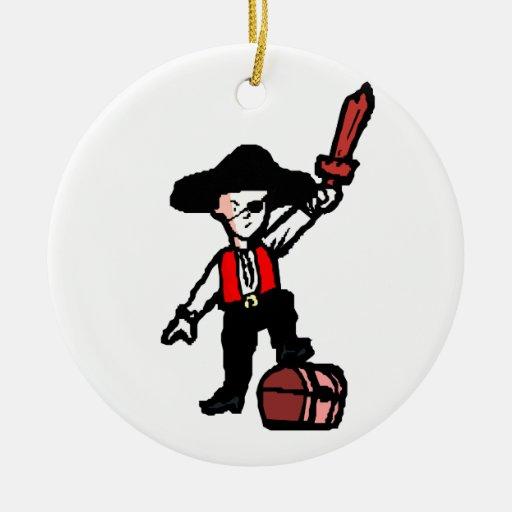 gráfico áspero del muchacho del pirata adorno