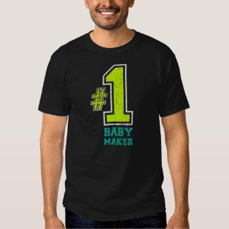 Gráfico atlético del fabricante del bebé #1 camisas