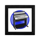 Gráfico azul de la música de fondo del órgano eléc caja de joyas