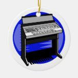 Gráfico azul de la música de fondo del órgano eléc ornamento para reyes magos